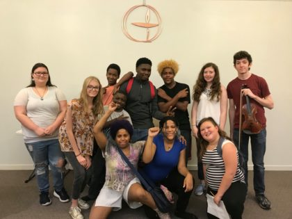 group photo of UUCJ youth